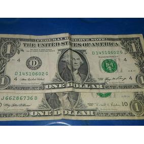 Nota De 1 Dolar Americano Original De Série 1995 E 2006