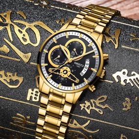 Relógio Nibosi Masculino Luxo À Prova D