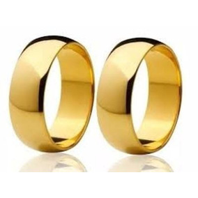 Promoção Par Alianças Casamento Ouro 18k Autêntico 6mm