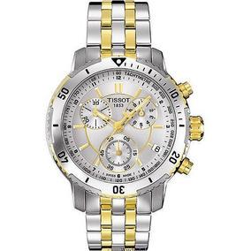 Relógio Tissot Prs 200 T0674172203100 Misto Prata Dourado