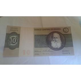 Nota Cédula Dez Cruzeiros D. Pedro Ii Mbc Top