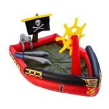 Pileta Inflable Pelotero Bestway Barco Pirata Chorro Agua