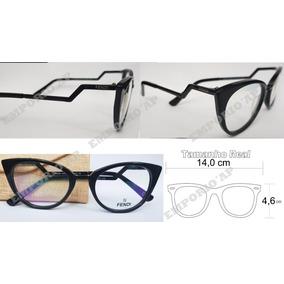 Armação Oculos P  Grau Feminina Fendi Premium Empório Top 0ed19a94ea