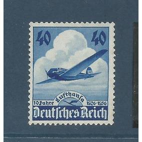 Selo Aviação Alemanha Reich Cotado 8 Euros.
