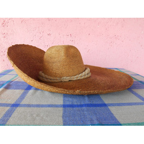 Viejo Sombrero Tipo Jalisco De Paja De Trigo Con Toquilla 9d2fb5cc880