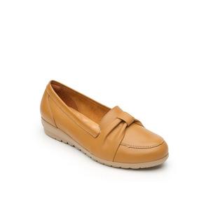 Calzado Dama Mujer Zapato Confort Flexi Piel En Miel Comodo