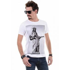 e6a770662d293 Camiseta Gola Careca Liberty Rock Red Feather 100% Original