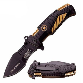 Canivete Faca Tático Mtech Gold Mt-a944 Militar Cinto Pesca