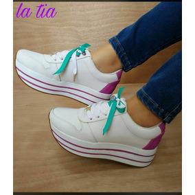 Deportivo Moda Zapatos Tenis Mujeres Elegante Mujer Cordón w4AqRZ0