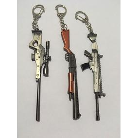 Kit Chaveiro Fortnite - 3 Picaretas Ou Armas - Metal 11,5cm