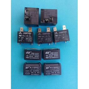 Capacitor Cbb61 1,5 Uf 450 Placa Ar Condicionado Split + Kit