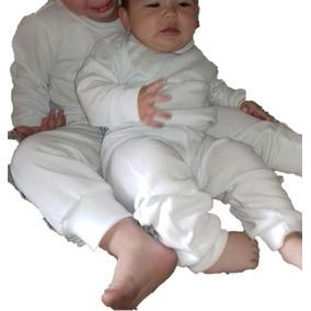 Pijama Térmica Dos Piezas, Color Blanco De Bebe