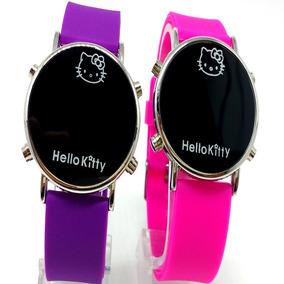 Kit 2 Relógio Da Hello Kitty Infantil Led Digital Barato
