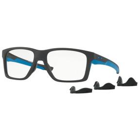 Armação Oculos Grau Oakley Mainlink Mnp Ox8128 0457 Preto Az 24aa80cdc0