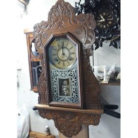 fda2c5abf20 Relogio Antigo De Parede Americano - Relógios De Parede Antigos no ...