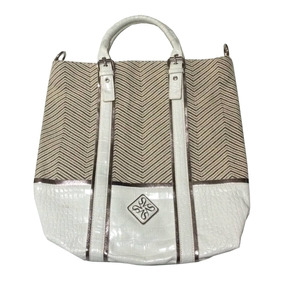 Hermosa Bolsa Vera Wang Grande Blanca Piel 100% Original!!