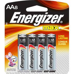 Bateria Energizer Aa X 8 Unidades Original 10 Años De Vida