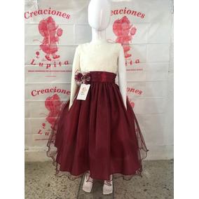 Vestidos de graduacion primaria color vino