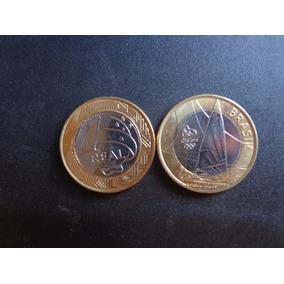 10 Moedas 1 Real Ano 2015 Vela Frete R$ 10,00