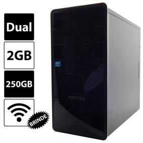 Pc Cpu Intel Dual Core 2gb Ddr3 250gb Hd Dvd Wi-fi Barato