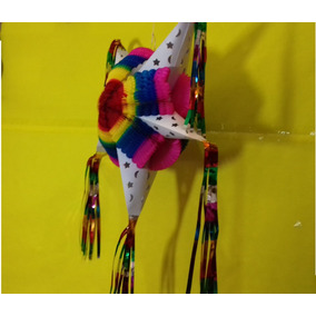 Decoración Piñata Estrella Navideña, Paq 50 Pzas
