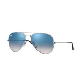 e9f0a93a0f04b Lentes Ray Ban Aviator Rb3025 003 3f Gradient Light Blue - Lentes De ...
