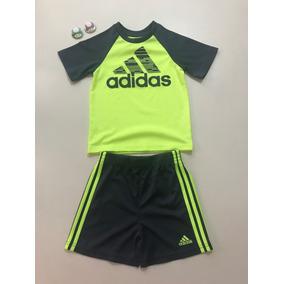 90a7c4e8a11f5 Conjunto Camisa E Bermuda - adidas P  Menino