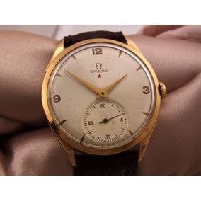 Omega Estrela Vermelha 1944 Relógio Em Ouro Maciço 18 J12619