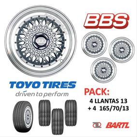 Llantas 13 Pack Recambio Bbs Con Cubiertas Toyo B13r400bb107