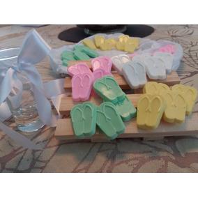 Kit 50 Chinelinhos De Sabonete Para Lembrançinhas - Batizado