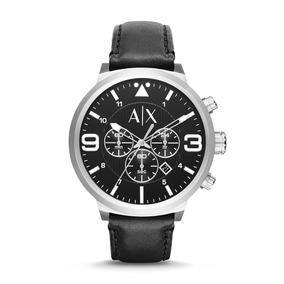 c3ef0b9fe6e8 Cuero Metal Logo Ax Armani Exchange Pulsera Relojes Joyas - Relojes ...
