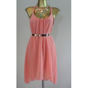 Vestido Gasa Con Espalda Descubierta. 3 Colores