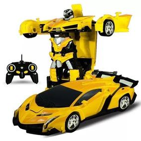 Transformers Carrinho Robo Controle Remoto Bumblebee