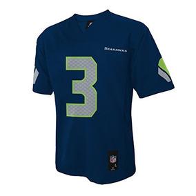 663221e046b6e Nfl Seattle Seahawks Russell Wilson Niños 4-7 Jersey Medio