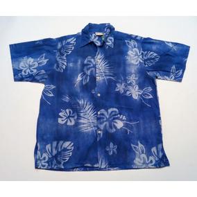 Camisa Hawaiana Original Tropical Floreada Surf Talle M 420