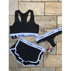 Calvin Klein Top Feminino - Calçados, Roupas e Bolsas Preto no ... ca6c207608