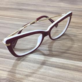 Armacao Oculos Feminino Aviador Branco Marc Jacobs - Óculos no ... 59e44b3363