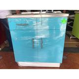 Mueble Para Tarja Azul Menta 80 Cm