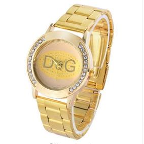 338405dfcb4bf Belíssimo Relógio Modelo Dolce Gabbana Dourado Bracelete - Relógios ...