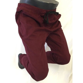 Pantalones Jogger Mens True Rock Burgundy Draw String S M L 31a5fb2bc9b8