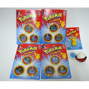 4 Cartela Tazos Pokemon Metal - Agarradinho Pokemon Estrela