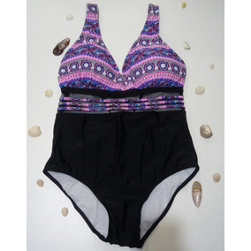 Maiô Feminino Plus Size Estampado Moda Praia G1 G2 G3