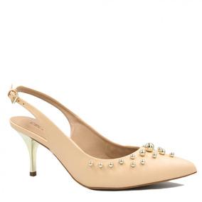 8ed249a51 Sapato Feminino Cecconello Chanel Salto Metalizado 1347002