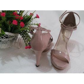 Sandalias Elegantes En Charol Rosa