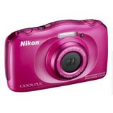 Nikon Coolpix S33 Contra Agua Digital Con Tarjeta Memoria