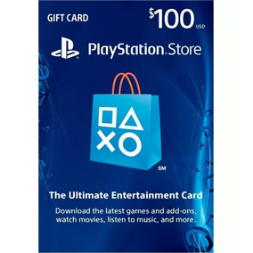 Cartão Psn $100 Dólares Usa Ps3 Ps4 Psn Card 100 Americana