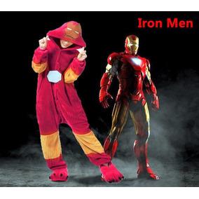 Kigurumi Pijama Adulto Plush Iron Man Importado Usa