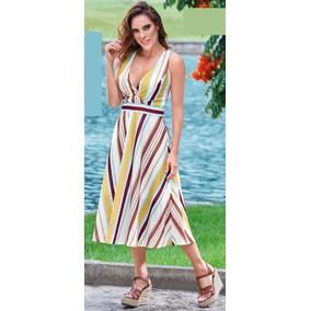Vestido Multicolor C/escote Cklass 415-52