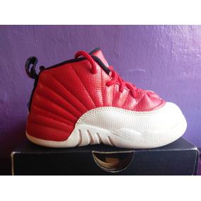 more photos a32d2 32014 Jordan 12 Retro 12 Rojo blanco 16 Cm