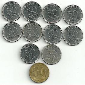 50 Centavos 1987 - Lote Com 10 Moedas